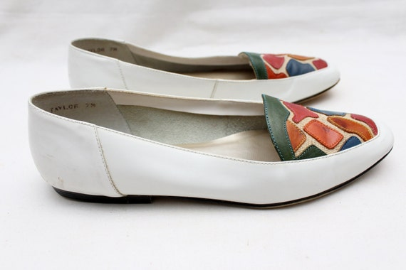 Vintage Loafers 80's Rare 7 Leather Pattern