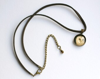 Mini Barn Owl Pendant, Owl Necklet, Faux Suede Necklace, Barn Owl Jewellery, Owl Charm Necklace, Cord Necklace, Amanda Drage Art