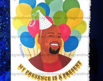 Kanye West Birthday Card