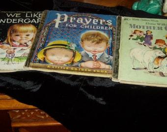 Old Eloise Wilkin  3 Little Golden Books  50s 1st Edition Prayers Golden Press
