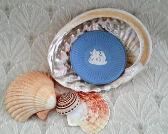 Wedgwood Blue Jasperware Miniature Plate, Pegasus, Made in England