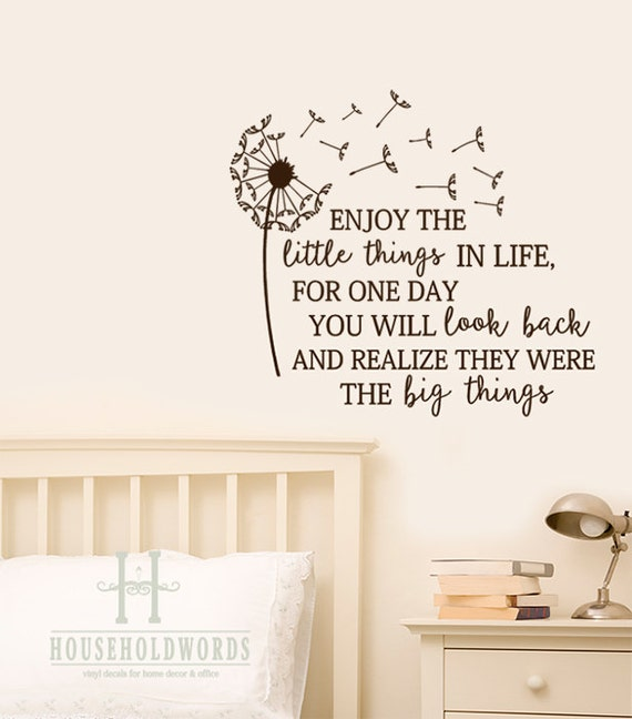 Superior Inspirational Wall Decals Dandelion Enjoy The Little Things