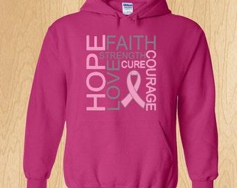 "Breast Cancer Awareness ""Hope Faith Love"" Sweatshirt"