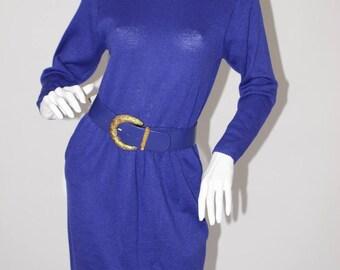 Vintage Estate St John Saks Fifth Avenue Purple NWT Dress