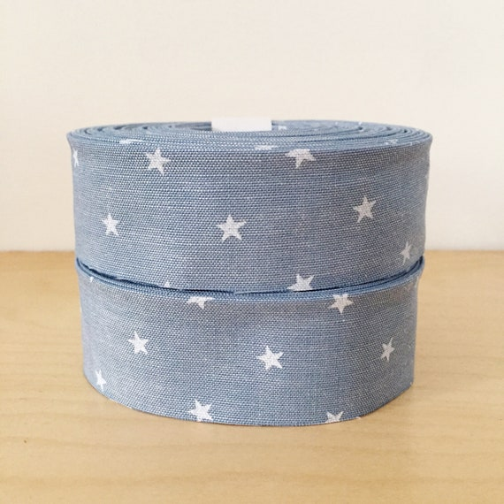 """Robert Kaufman Sevenberry Classiques Chambray and Stars Quilt binding- 1.25"""" double-fold cotton"""