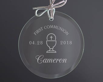 Personalized First Communion Ornament - First Communion Gift, First Communion Sun Catcher, Child's First Communion Personalized, SHIPS FAST