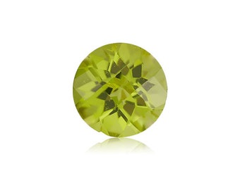 0.25-0.30 Cts of 4 mm AA Checkered Board Chinese Peridot ( 1 pc ) Loose Gemstone-393425