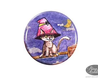 Witch's Familiar Pinback Button