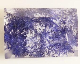 Dumortierite in Quartz 4.50cts Bag Cut 11.00 x 8.00mm Y9466 Blue Gem Loose Faceted Gemstone Collector Gemology Gemological