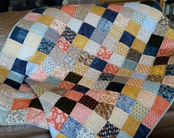 ETSY BIRTHDAY SALE Rustic Patchwork Quilt, Quilts for Sale, Handmade Quilt, Patchwork, Quilt, Lap Quilt, Patchwork Blanket, Throw Blanket