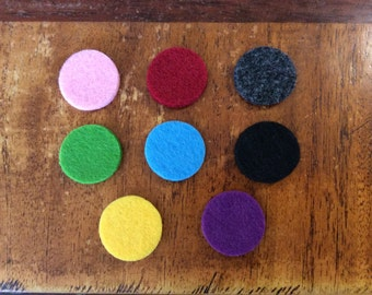 Felt Pads for 30mm  Aromatherapy Locket, Essential Oil Diffuser, Perfume Locket, Fragrance Necklace - Pack of 6 Pads, Thick 3-4mm Pads
