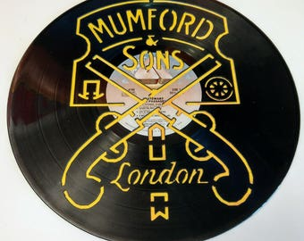 Mumford and Sons Vinyl Record Art