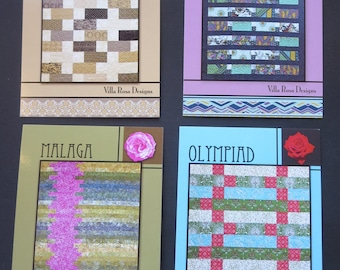 Four Villa Rosa Designs Quilt Patterns - Sahara, Panorama, Malaga And Olympiad