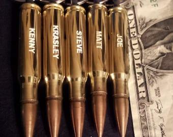 SIX - Engraved 308 Bullet Keychain groomsmen gift, valentines gift for men