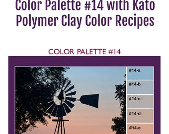 Kato Polyclay Polymer Clay Color Mixing Recipes for Color Palette #14