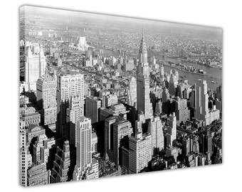 Vintage 1930s New York City Prints Canvas Pictures Wall Art Home Decoration Framed Modern Art Poster