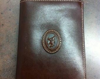 Vintage Mens Wallet - Brown Leather Bifold - Pocket Wallet - Change Purse
