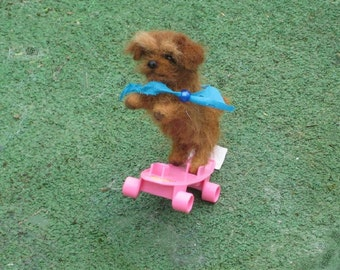 Needle Felted Dog / Custom  Miniature Sculpture of your pet / example Norfolk Terrier small size