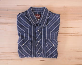 Wrangler snap front western style soft flannel size large