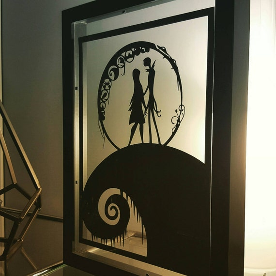 Nightmare Before Christmas Gifts Uk: Nightmare Before Christmas Inspired Paper Cut In Floating