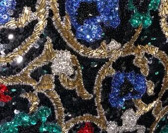 Oleg Cassini Black Tie Sequined Blazer Jacket! *On Sale!*