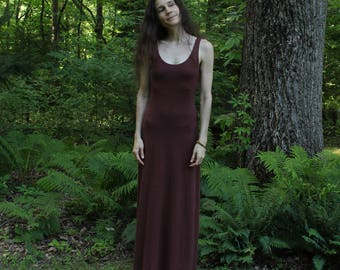 hemp tank dress - long maxi / below or above knee / mini lengths - hemp and organic cotton - custom made to size and hand dyed
