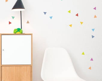 Colorful Triangle wall decal, Little Peaks Decal, Wall Stickers, Cute Colors Triangles, Geometric Wall Decal, Triangles, Wall Decal