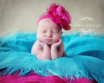 Burlap Blanket Photo Prop Mini Baby Blanket Photography Prop Basket Filler choose your colors
