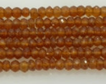 hessonite garnet facetted roundel 4mm
