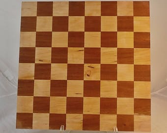 Handmade Wooden Chessboard Maple and Oak