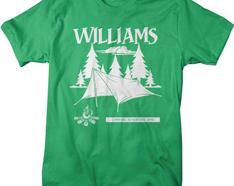 Personalized Hipster Camping Adventure T-Shirt Camper Shirts Custom Tees