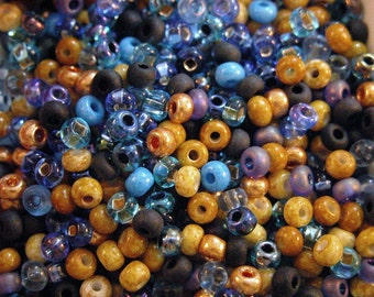 Twilight in the Canyon  6/0 seed bead mix 50 grams