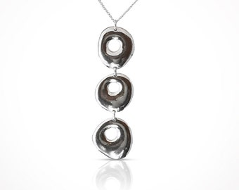Sterling silver 3 circles pendant