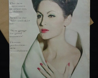 Fabulous VOGUE Magazine from Oct.1959, In Original Mailing Wrapper, Perfect
