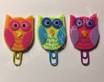 Owl Planner clip set