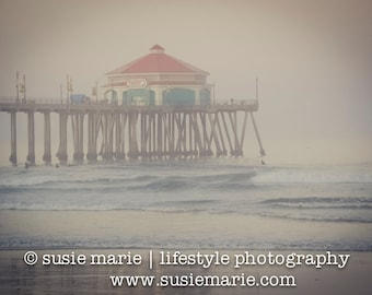 Huntington Beach Pier Photo - Nature Photography