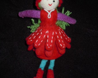 Hand-felted doll for playing or hanging - designed in Germany, handcrafted from Nepal