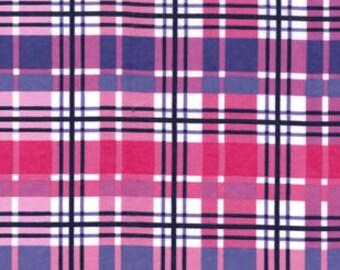 Snuggle Flannel Prints - Purple & Pink Plaid - 1 1/4 Yards
