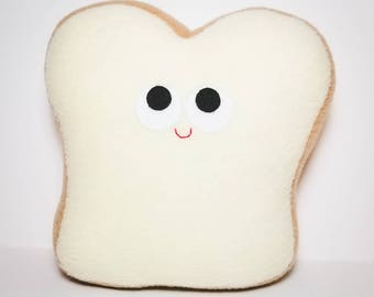 White Bread - Plush Food - Play Food - Plush Bread - Sandwich Bread - Anthropomorphic - Imagination