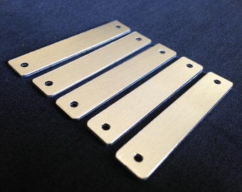 14 Gauge - Aluminum Rounded Personalized Tag Stamping Blanks, Personalized Bar Charm, Aluminum Stamping Blanks, Stamping Blanks Co.