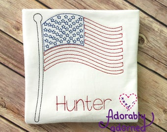 4th of July American Flag Patriotic USA Shirt
