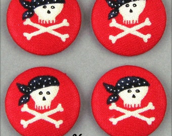 -Pirate - 26mm - (26-30) fabric covered buttons