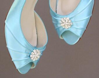 Wedding Shoes, Bridal Heels, Blue Wedding Shoes, Something Blue Shoes, Something Blue, Simple Wedding Shoes, Bridemaids Shoes, Blue Wedding