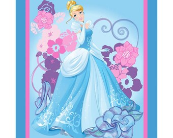 SALE!! Disney Cinderella Princess Fabric By the Panel