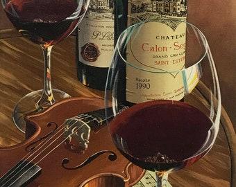 "Dima Gorban ""Calon Segur"" - Signed Giclee on Canvas - Wine - See Live at GallArt"