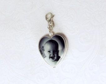 Heart Photo Pendant Framed in Sterling Silver - FP12CN