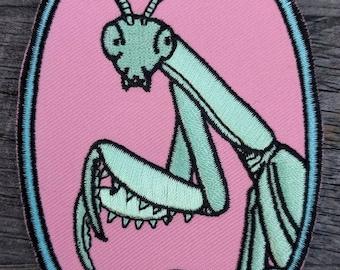Feminism Praying Mantis Embroidered Patch