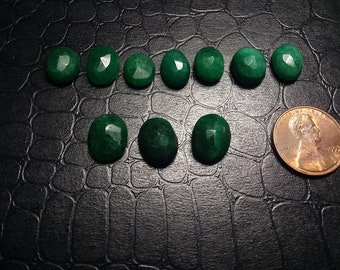 colombian emerald 10-12mm cabs//natural emeralds//oval shaped cabs//emeralds//crystals//cabochon//price per crystal
