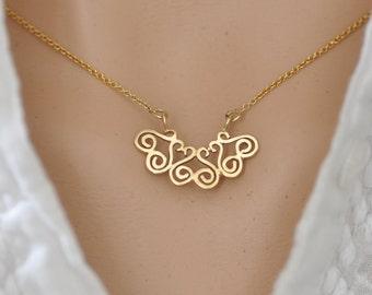 14k Gold Dainty Necklace, 14k Gold pendant , Gold Delicate Pendant , Gold Dainty Pendant , 14k Gold Small Pendant, 14k Gold Necklace Pendant