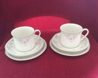 Royal Doulton Caprice Trio, Cup, Saucer and Tea Plate Trio